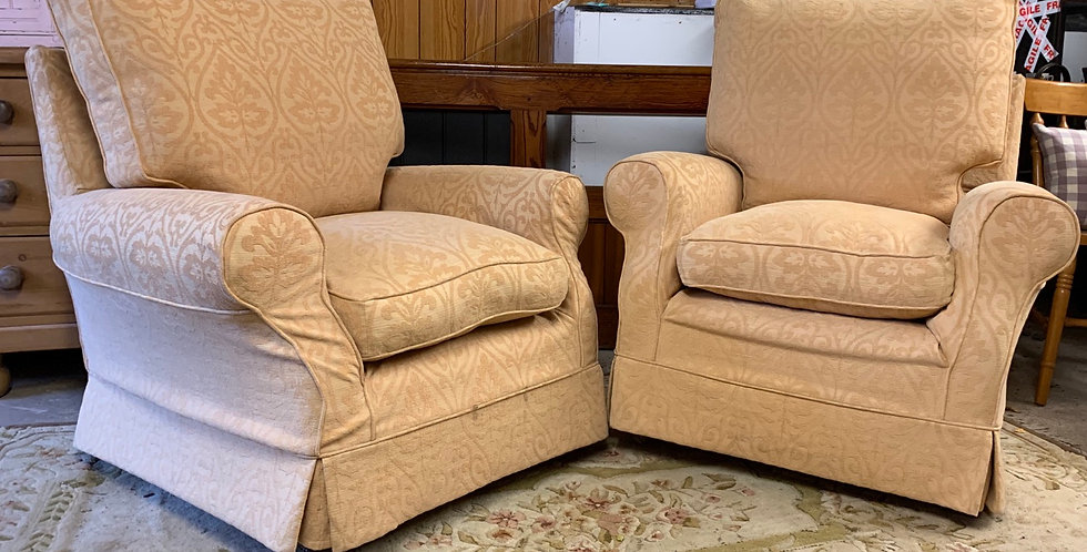Pair Of Good Quality Multiyork Loose Cover Armchairs ...
