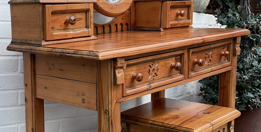 Old Cottage Furniture Solid Pine Dressing Table & Stool * 2 Left *