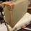 Thumbnail: Vintage 1960's Green Canvas & Leather Bound Suitcase