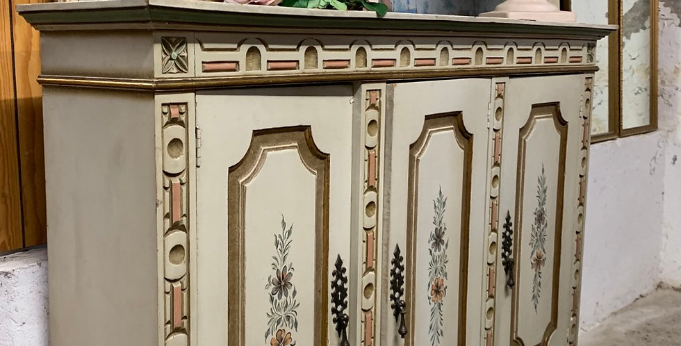 Painted French Country Style Cupboard