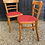 Thumbnail: Pair Of Vintage Utility Beech Kitchen Chairs