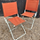 Thumbnail: Pair Of Vintage Retro Orange Canvas Folding Deck Chairs / Garden Camping Chairs