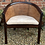 Thumbnail: Elegant Tub Bedroom Armchair With Cane Bergere Panels