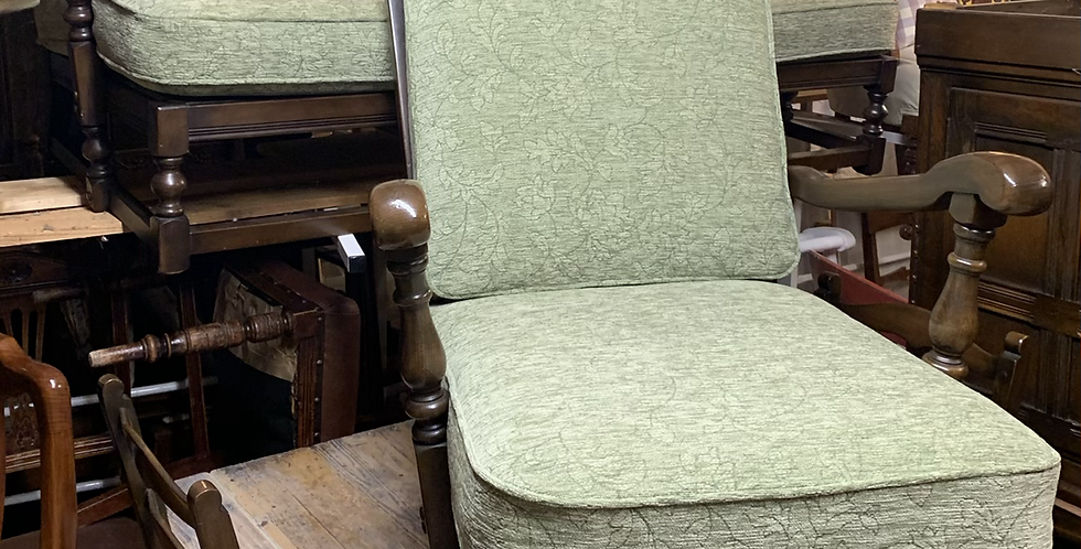 1979 Ercol Old Colonial Yorkshire Back Sofa Settee & Armchair 445 & 445/3
