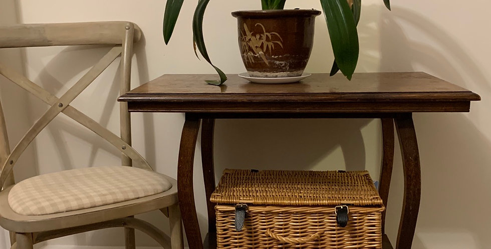 Vintage Oak Occasional Side Table