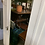 Thumbnail: Victorian Single Cream Painted Pine Wardrobe With Drawer / Hall Cupboard