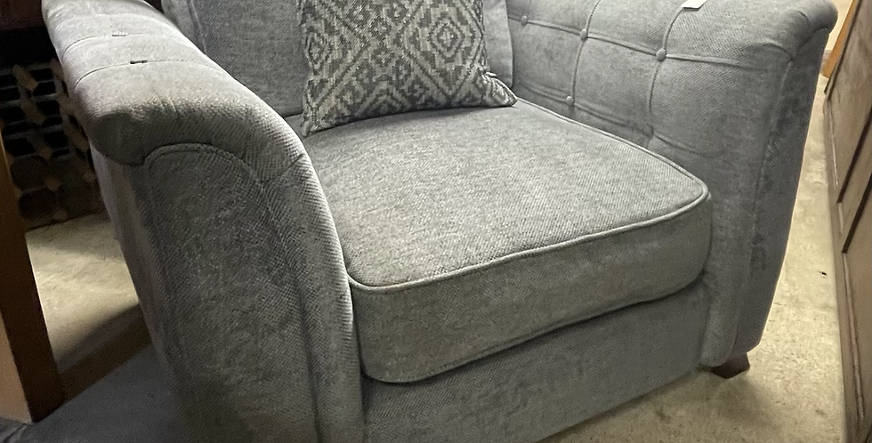 DFS Delilah Grey Armchair With Aztec Scatter Back Cushion