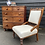 Thumbnail: Edwardian Walnut Nursing Chair With Later Cream Upholstery