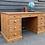 Thumbnail: Large Solid Pine Twin Pedestal Kneehole Writing Desk