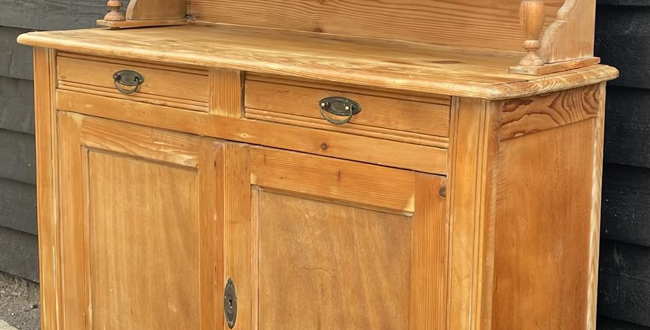 Charming Rustic Victorian Reclaimed Pine Chiffonier Dresser