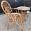 Thumbnail: Vintage Retro Bamboo Armchair & Table Set