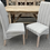 Thumbnail: Pair Of Grey Pinstripe Scroll Back Italian Dining Chairs
