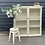 Thumbnail: Old Painted Pine Glazed Bookcase Display Cabinet