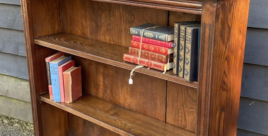 Joined Oak Freestanding Open Bookcase