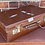 Thumbnail: Small Vintage Brown Vulbank Suitcase, Decorators Piece Or Wedding Postbox