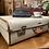 Thumbnail: Vintage Cream Vanguard Luggage Suitcase, Decorators Piece Or Wedding Postbox
