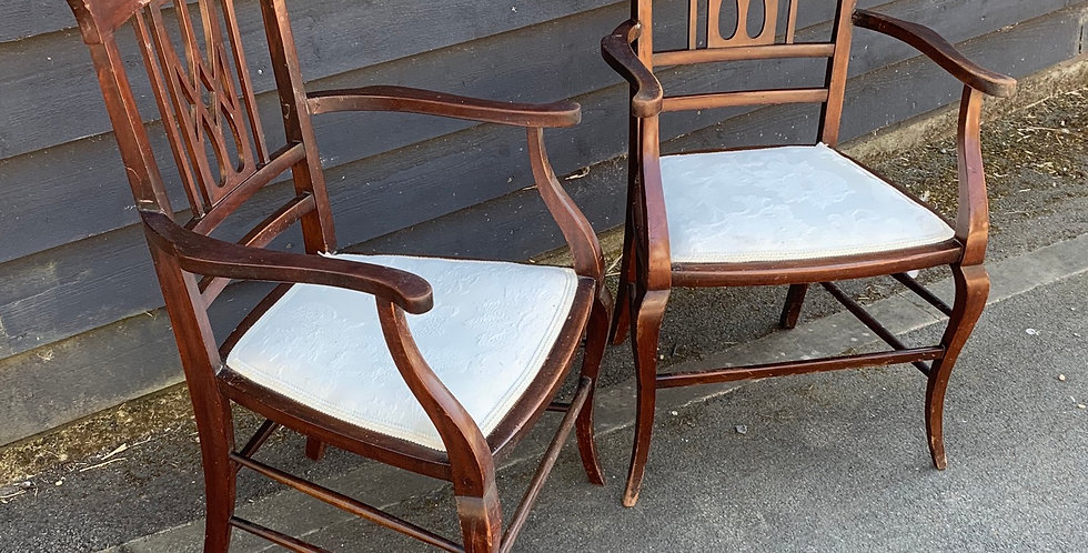 Elegant Pair Of Early 20th Century Decorative Armchairs