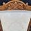 Thumbnail: Edwardian Satin Walnut Nursing Chair With Green Floral Flock Upholstery