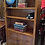 Thumbnail: Tall Yew Wood & Veneer Centre Bookcase With Cupboard