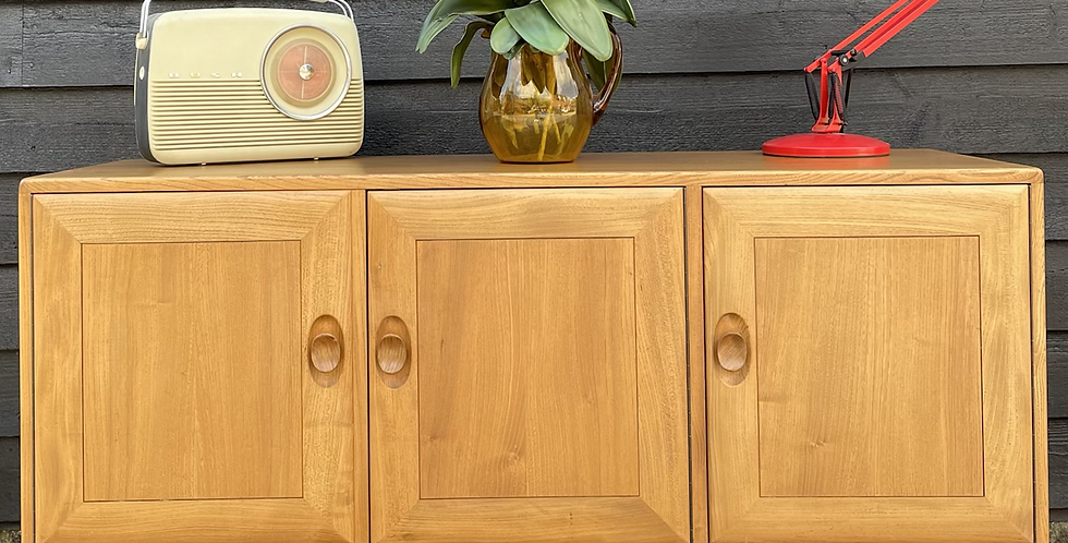 Ercol Windsor 468 Sideboard With Cutlery Tray In Original Blonde Finish
