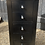 Thumbnail: Contemporary Matte Black Narrow Tallboy Chest Of Drawers
