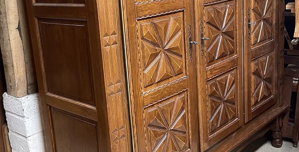 Triple French Oak Knock Down Wardrobe / Linen Pantry Cupboard