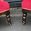 Thumbnail: Pair Of Late Victorian Relief Carved Parkour Armchairs In Red Velvet Upholstery