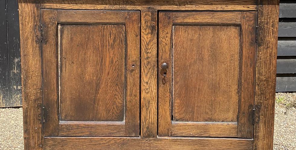 Rustic 19th Century Joined Oak Double Door Side Cupboard