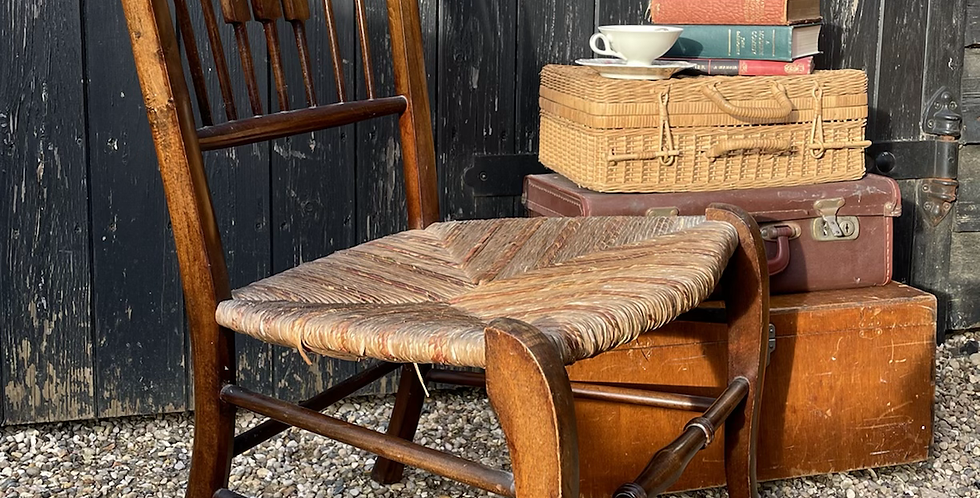 Early 20th Century Low Nursing Chair / Occasional Bedroom Side Chair
