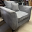 Thumbnail: DFS Delilah Grey Armchair With Aztec Scatter Back Cushion
