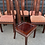 Thumbnail: Good Quality Chinese Hardwood Extending Dining Table & 8 Chairs inc Carvers