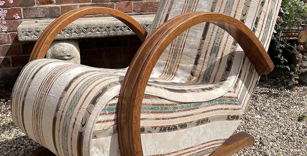 Art Deco Banana Rocking Chair / Armchair