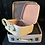 Thumbnail: Stack Of 2 Lovely Vintage Cream Leather Antler Suitcase & Vanity Case With Key