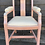 Thumbnail: Pretty Vintage Dusky Pink Painted Carver Armchair