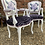 Thumbnail: Elegant Pair Of White Painted French Louis Style Fauteuilles Armchairs
