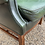 Thumbnail: Pair Of Bottle Green Leather Wing Back Armchairs With Button Backs