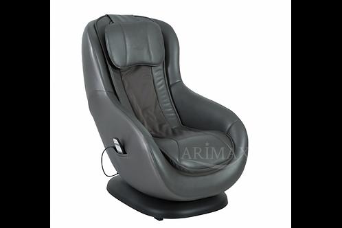 Кресло массажное и подставкой для ног 010 PU (серый)