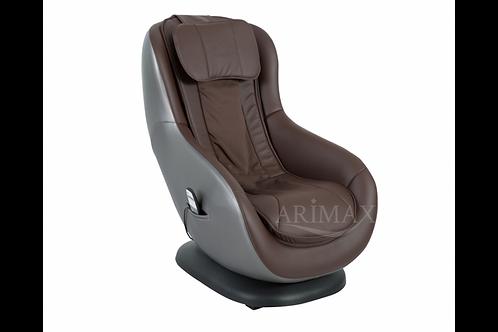 Кресло массажное и подставкой для ног 010 PU (шоколад)