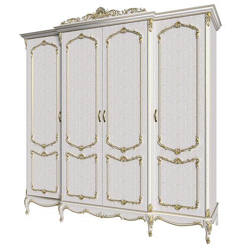 Шкаф 4-дверный для одежды с выступом Елизавета