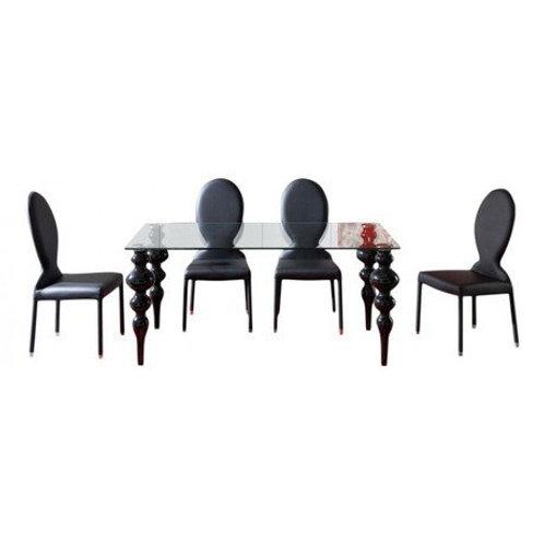 Стол обеденный Arredamento MCM/012 черный