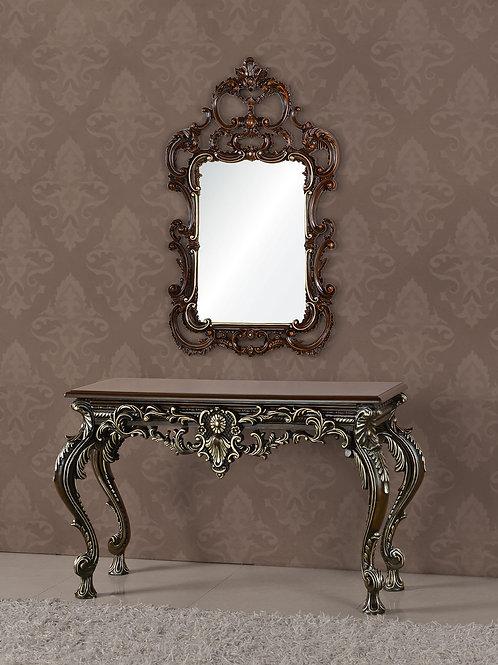 Консоль А89001-1 Gabriele коричневая с серебром
