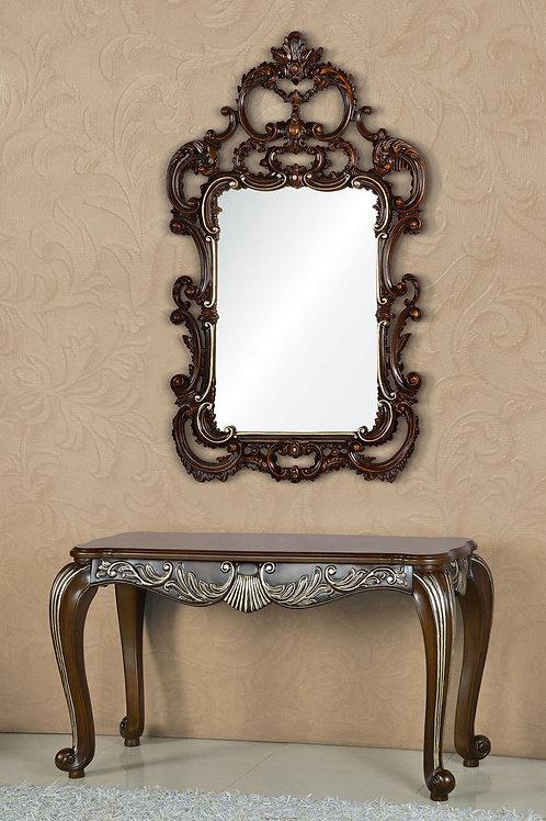 Консоль А89008-2 Margaret коричневая с серебром