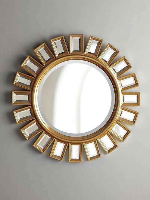 "Зеркало в круглой раме ""Эштон"" голд"