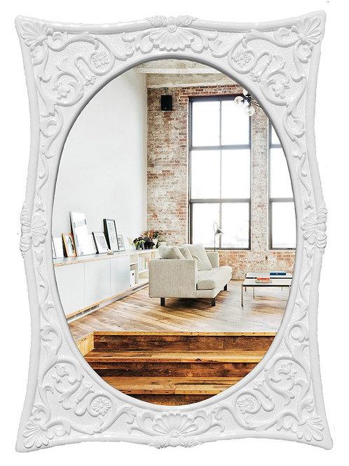 """Зеркало в раме """"Аллисте"""" (gloss white)"""