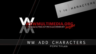 WM Add Characters | Free titles for Final Cut Pro X