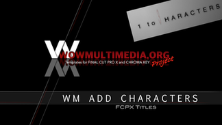 WM Add Characters   Free titles for Final Cut Pro X
