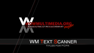 WM Text Scanner - Free Titles and Transitions for Final Cut Pro X