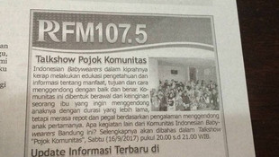 Bandung Babywearers on PRFM