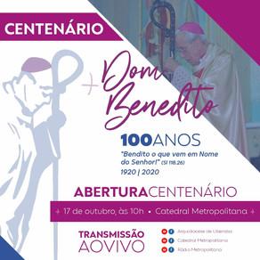 Neste sábado (17), acompanhe a partir das 10h a Missa de Abertura do Centenário de Dom Benedito