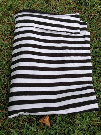 jersey marinière, noir et blanc